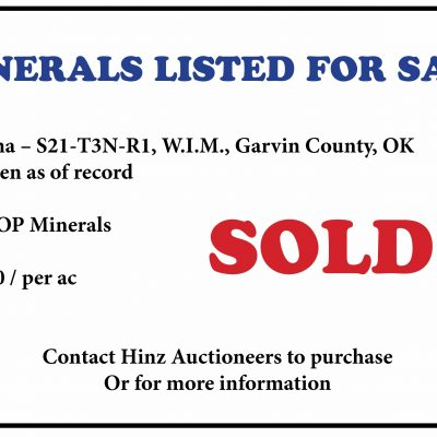 Minerals For Sale - Garvin County