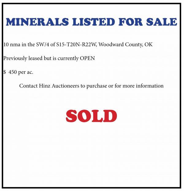 Woodward Co. Minerals