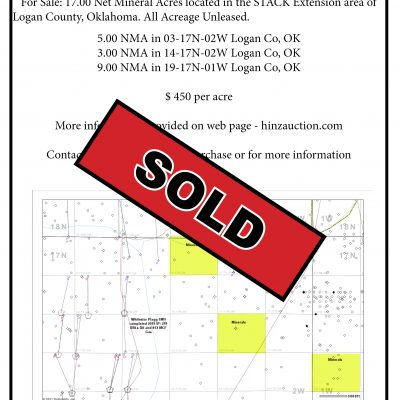 LISTED FOR SALE – 17 NMA LOGAN COUNTY MINERALS
